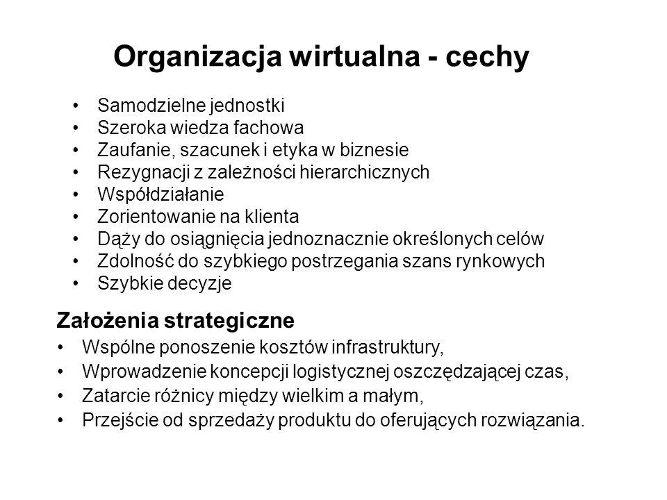 Organizacja wirtualna - cechy