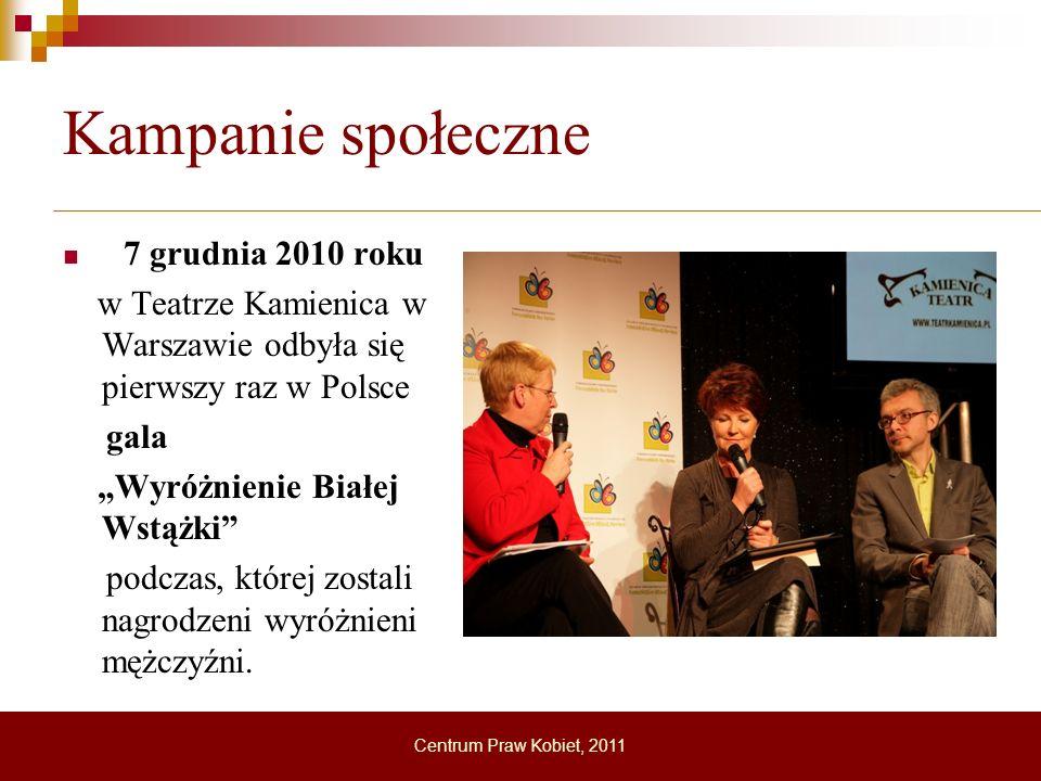 Kampanie społeczne 7 grudnia 2010 roku. w Teatrze Kamienica w Warszawie odbyła się pierwszy raz w Polsce.