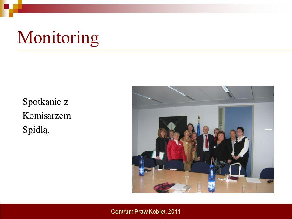 Monitoring Spotkanie z Komisarzem Spidlą. Centrum Praw Kobiet, 2011