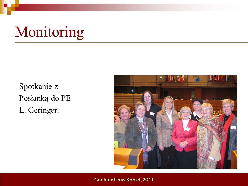 Monitoring Spotkanie z Posłanką do PE L. Geringer.