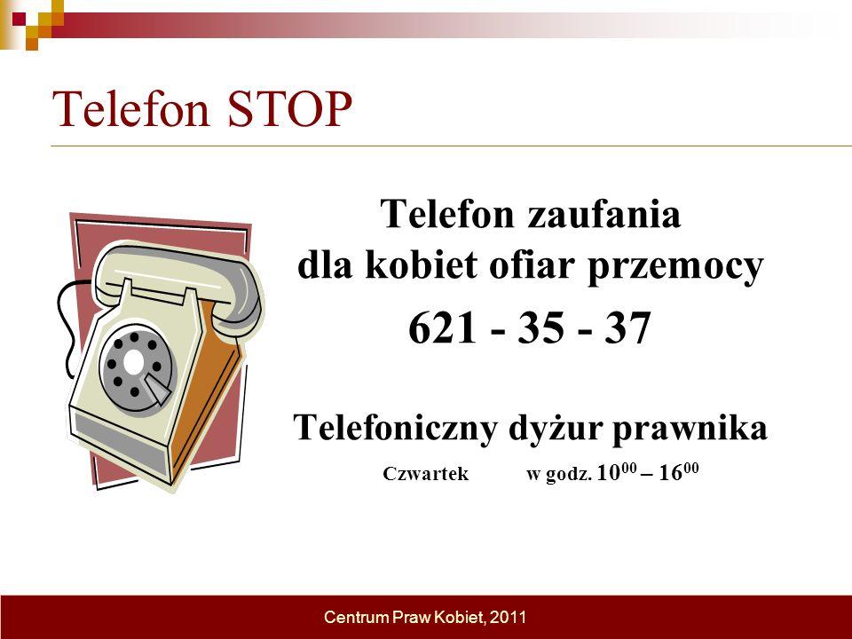 dla kobiet ofiar przemocy Telefoniczny dyżur prawnika