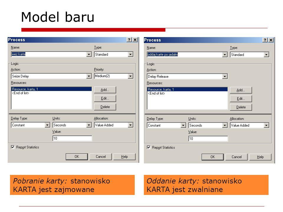 Model baru Pobranie karty: stanowisko KARTA jest zajmowane