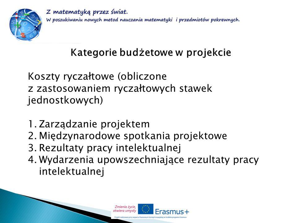 Kategorie budżetowe w projekcie