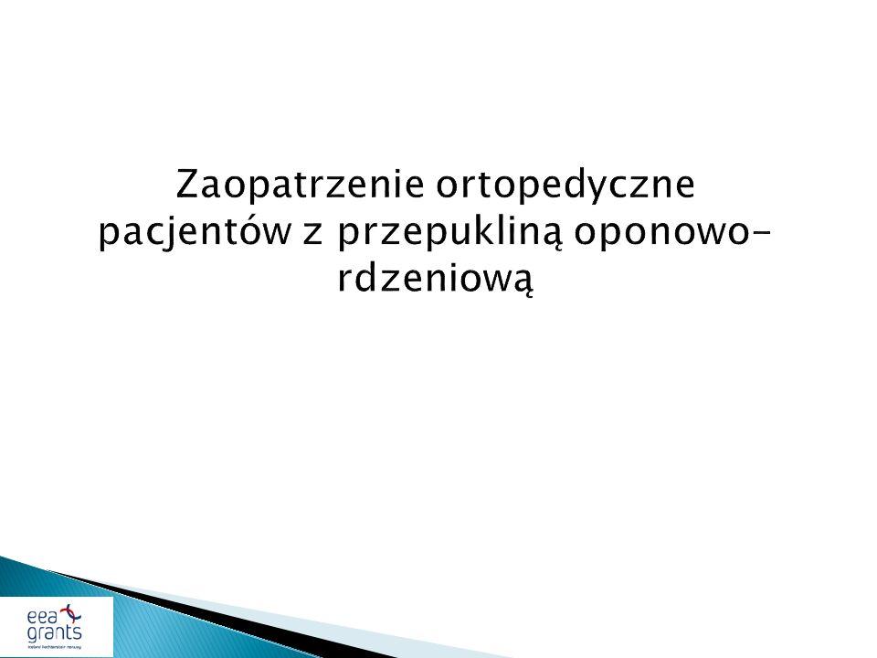 Zaopatrzenie ortopedyczne pacjentów z przepukliną oponowo-rdzeniową
