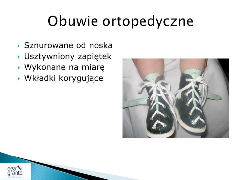 Obuwie ortopedyczne Sznurowane od noska Usztywniony zapiętek