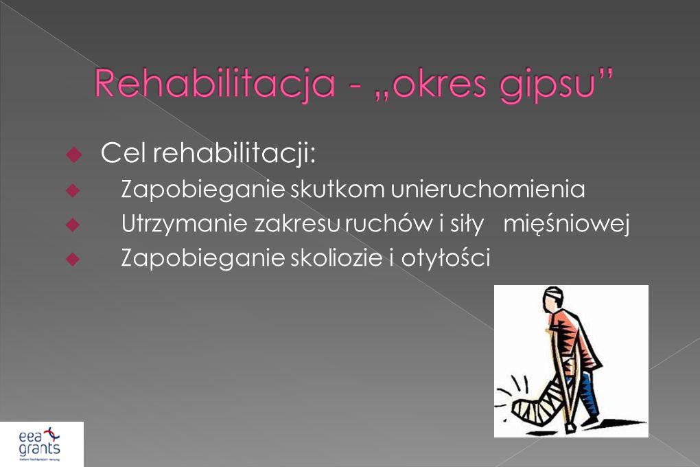 """Rehabilitacja - """"okres gipsu"""