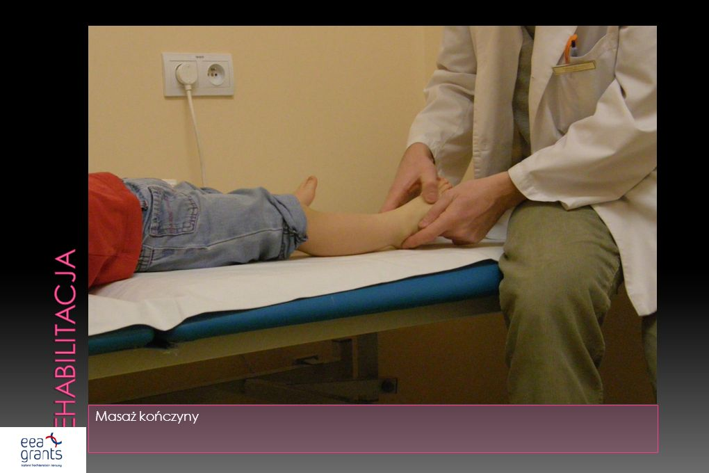 rehabilitacja Masaż kończyny