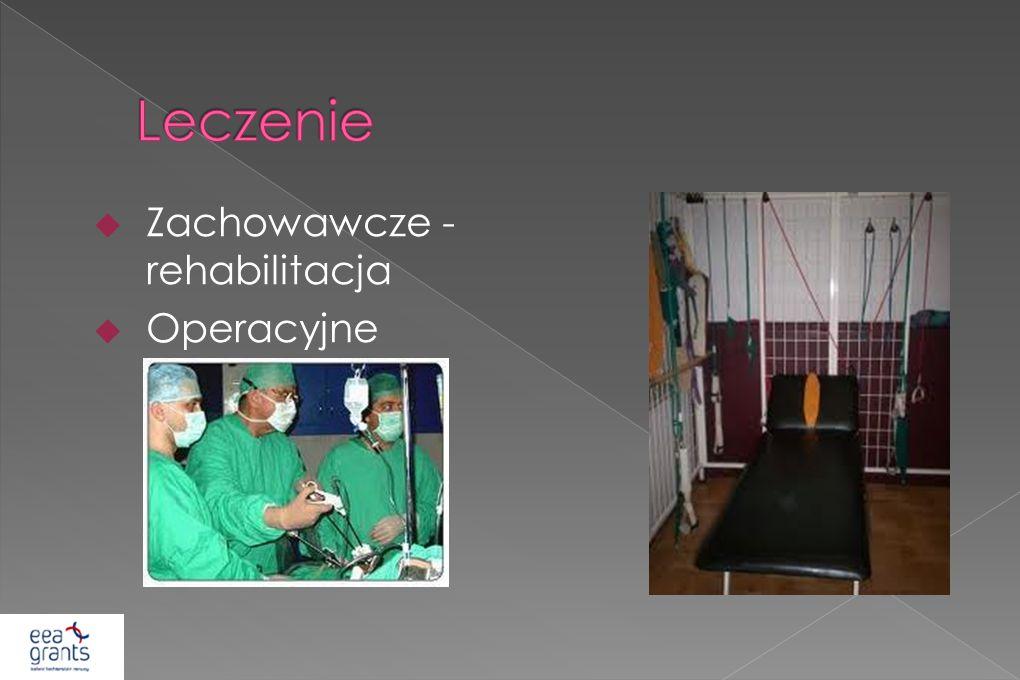 Leczenie Zachowawcze - rehabilitacja Operacyjne