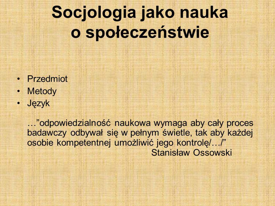 Socjologia jako nauka o społeczeństwie