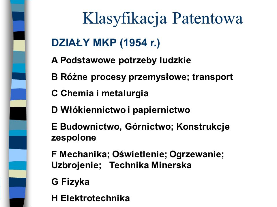 Klasyfikacja Patentowa
