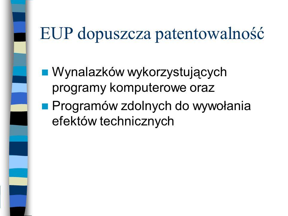 EUP dopuszcza patentowalność