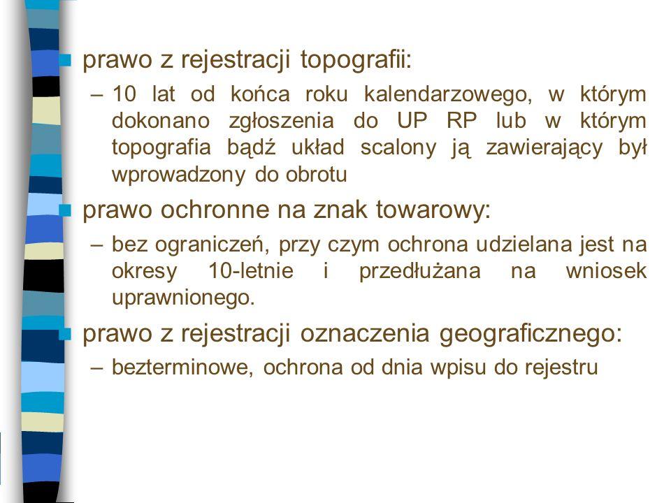 prawo z rejestracji topografii: