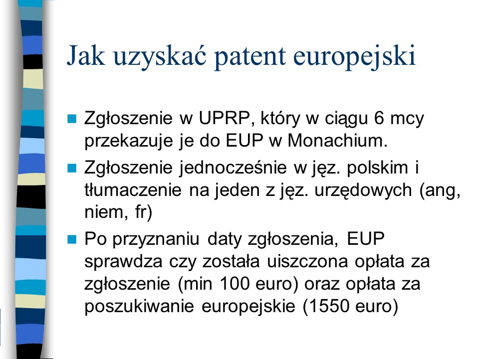 Jak uzyskać patent europejski