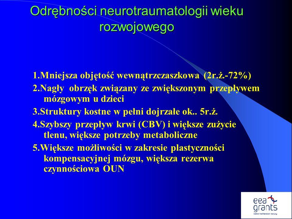 Odrębności neurotraumatologii wieku rozwojowego