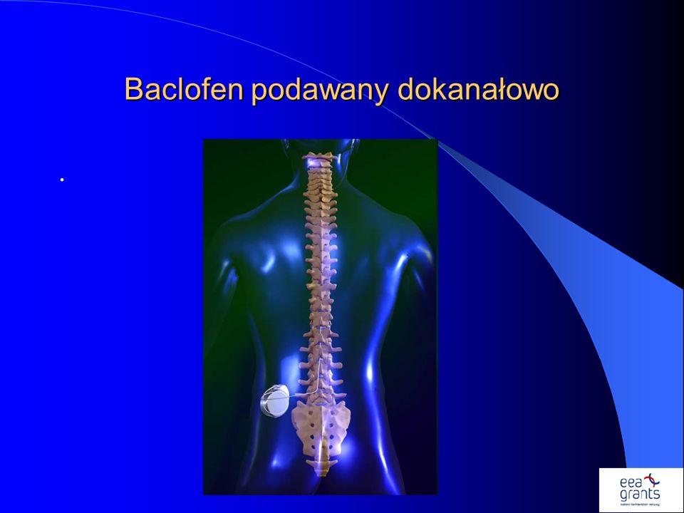 Baclofen podawany dokanałowo