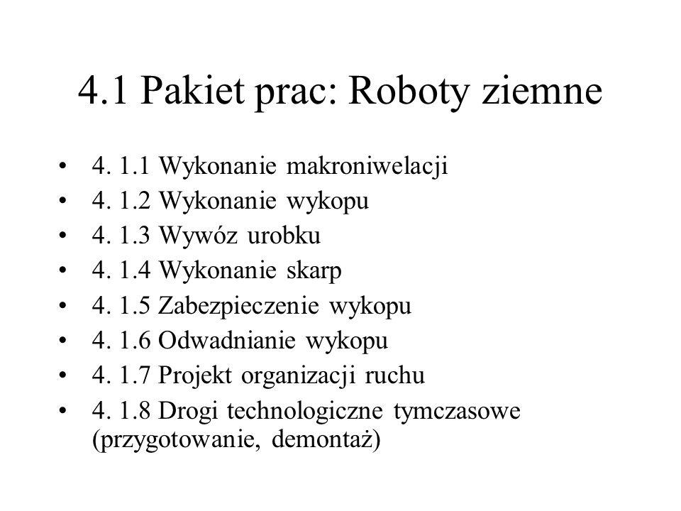 4.1 Pakiet prac: Roboty ziemne