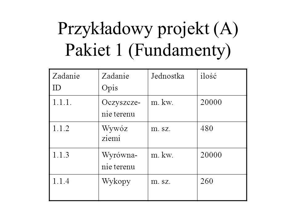 Przykładowy projekt (A) Pakiet 1 (Fundamenty)
