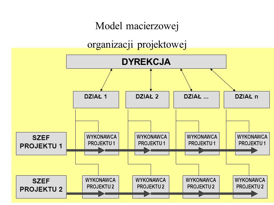 Model macierzowej organizacji projektowej