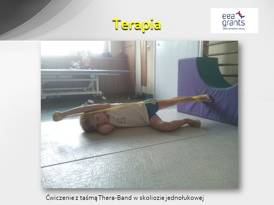 Terapia Ćwiczenie z taśmą Thera-Band w skoliozie jednołukowej
