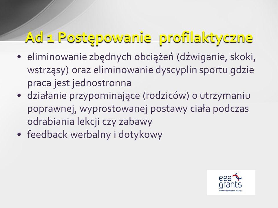Ad 1 Postępowanie profilaktyczne