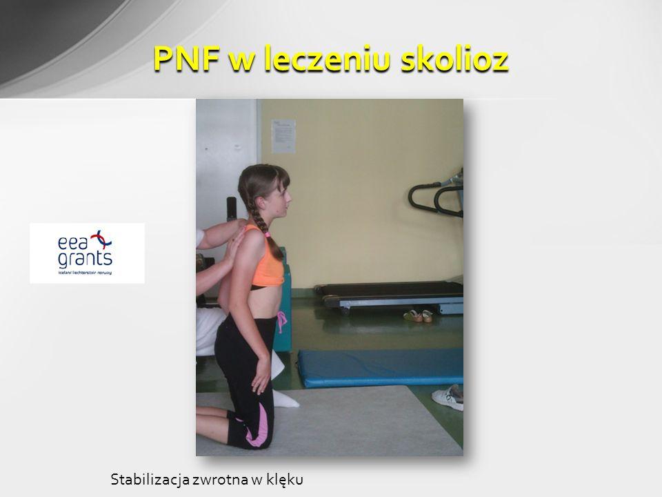PNF w leczeniu skolioz Stabilizacja zwrotna w klęku