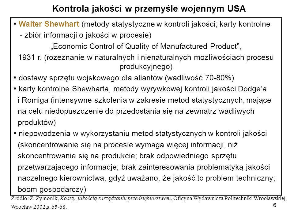 Kontrola jakości w przemyśle wojennym USA