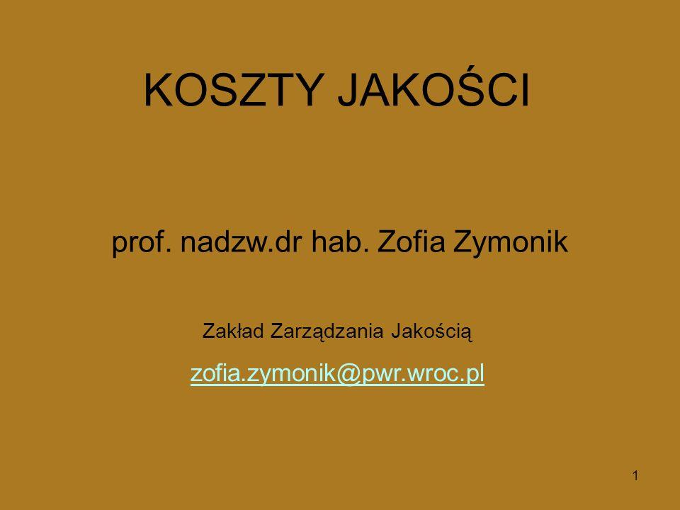 prof. nadzw.dr hab. Zofia Zymonik