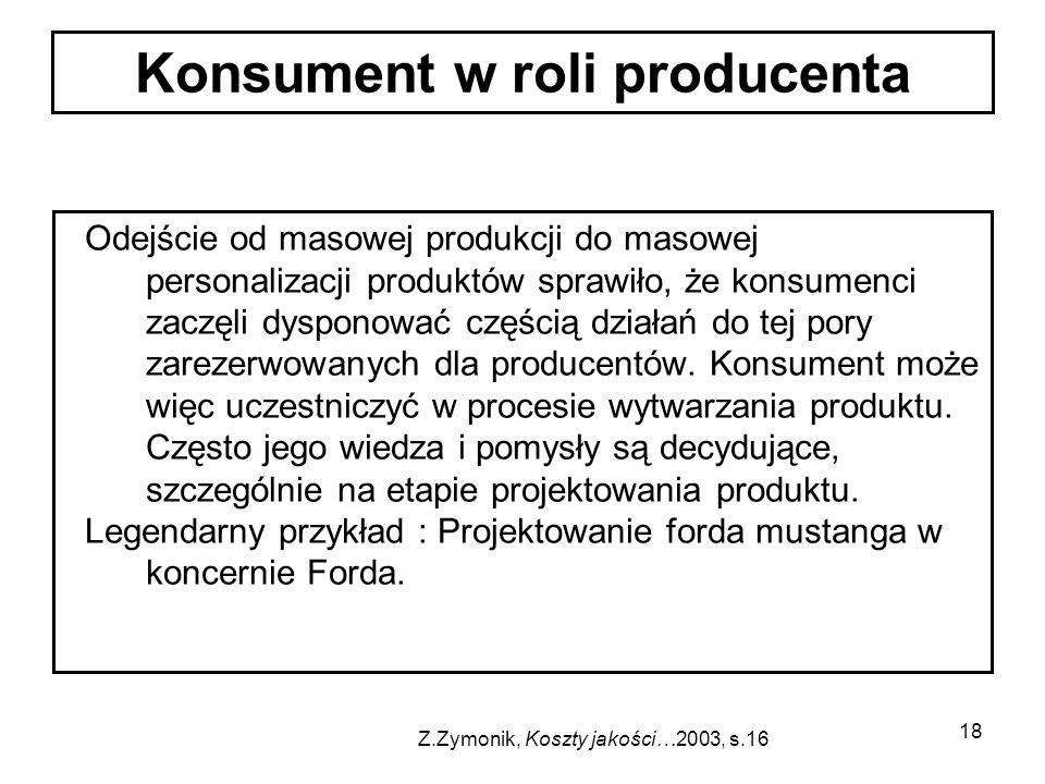 Konsument w roli producenta
