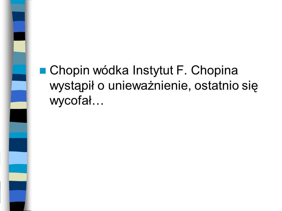 Chopin wódka Instytut F