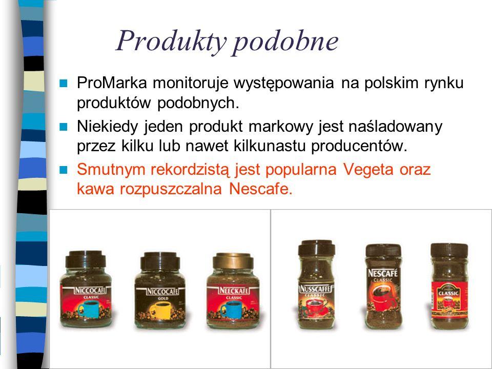 Produkty podobne ProMarka monitoruje występowania na polskim rynku produktów podobnych.