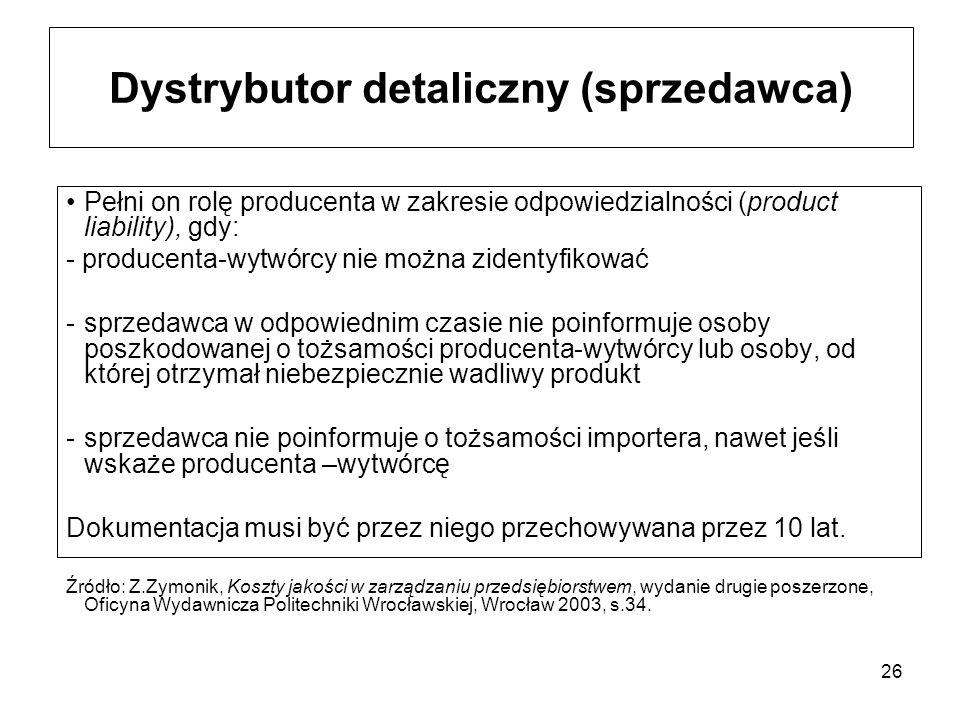 Dystrybutor detaliczny (sprzedawca)