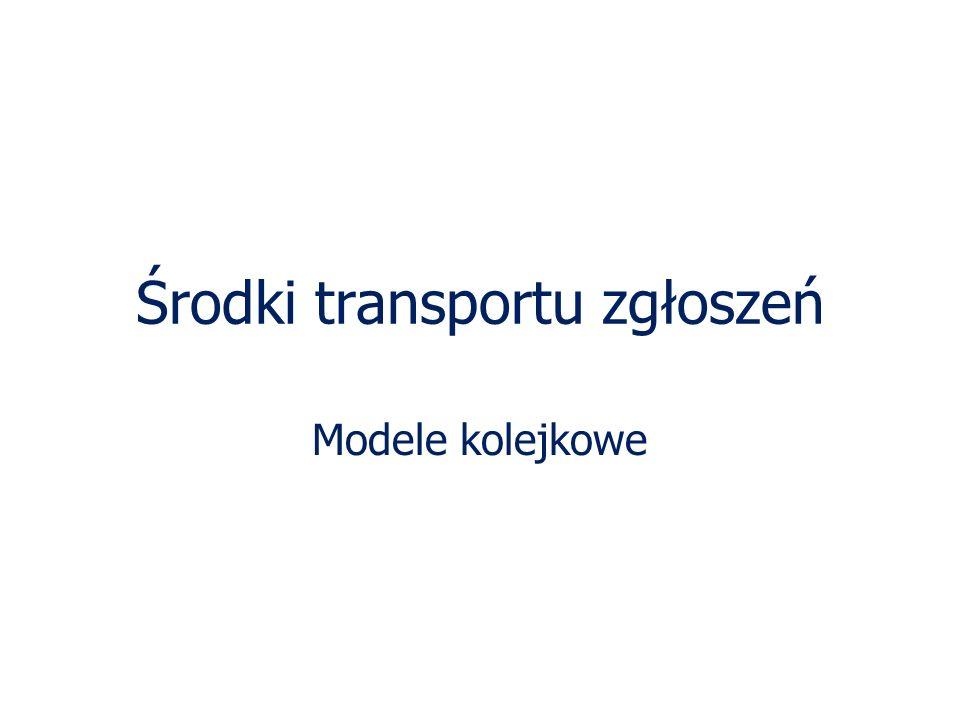 Środki transportu zgłoszeń
