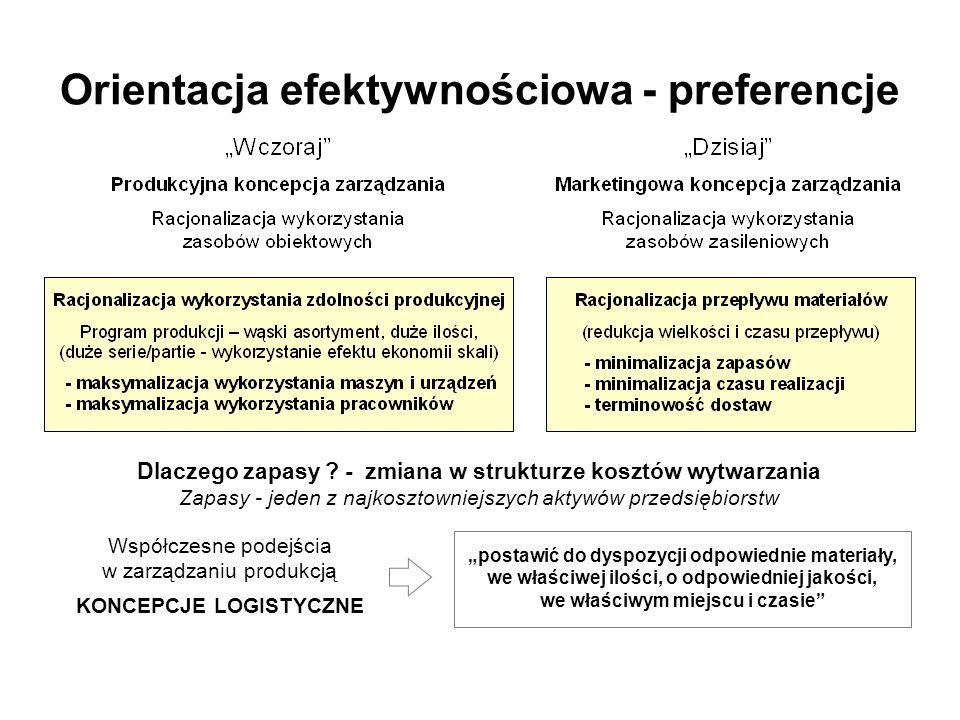 Orientacja efektywnościowa - preferencje