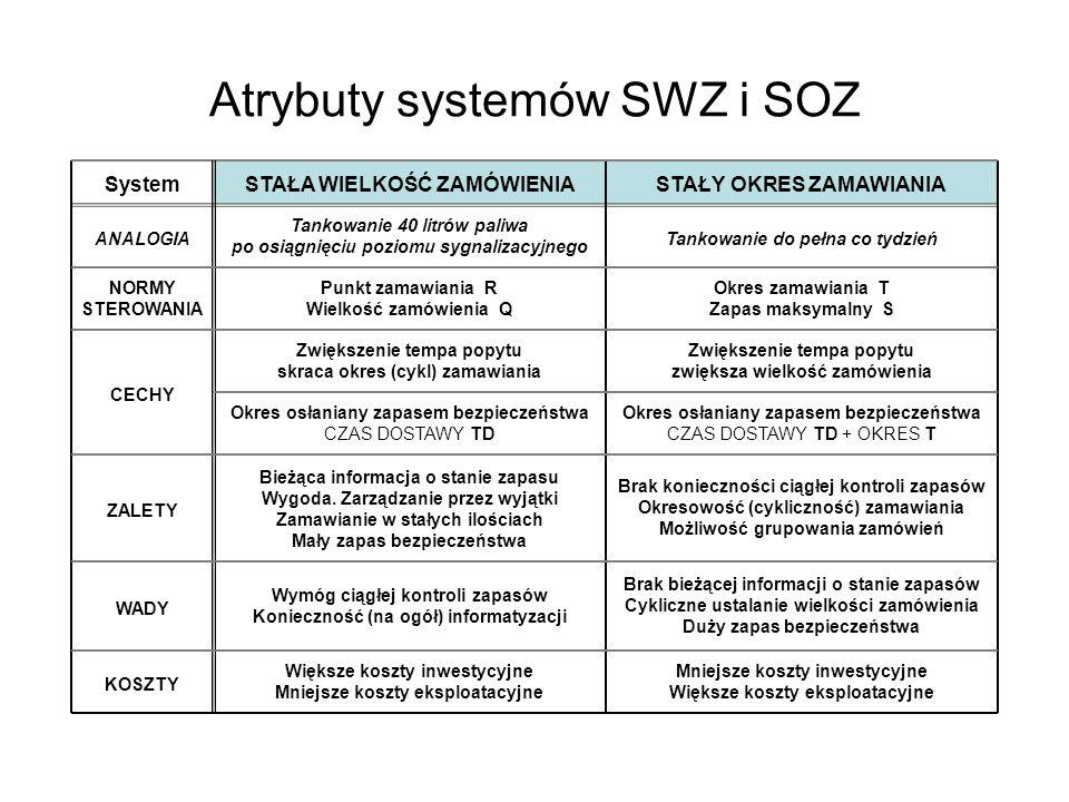 Atrybuty systemów SWZ i SOZ