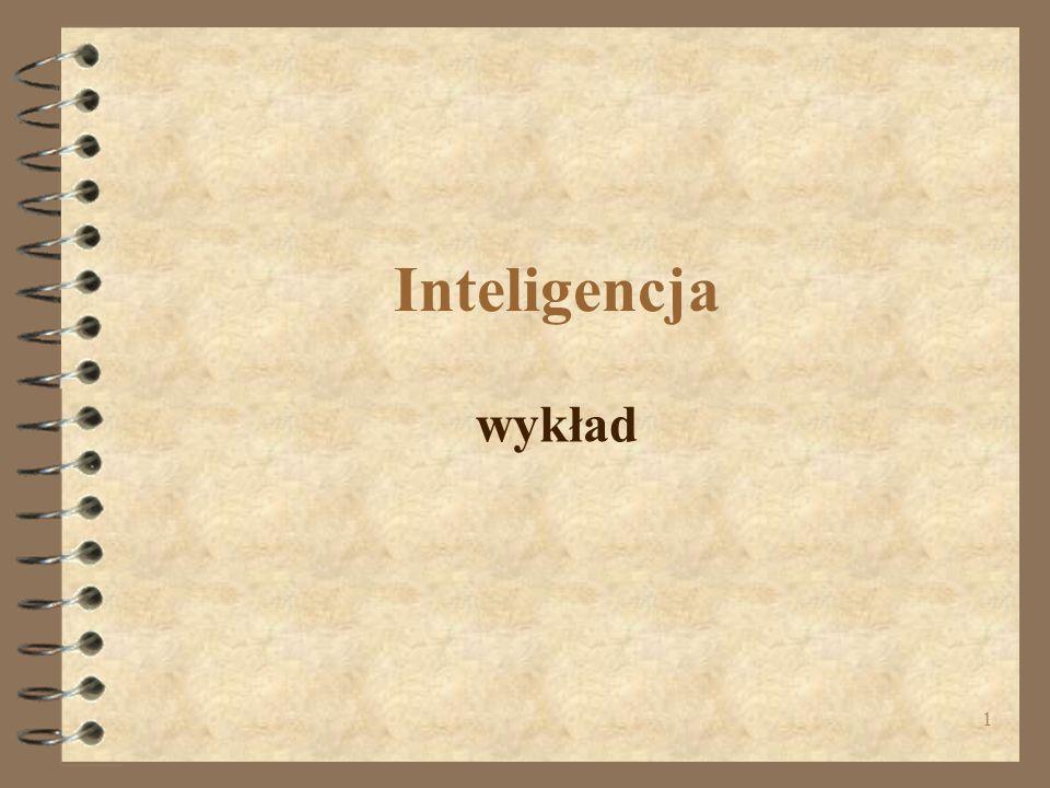 Inteligencja wykład