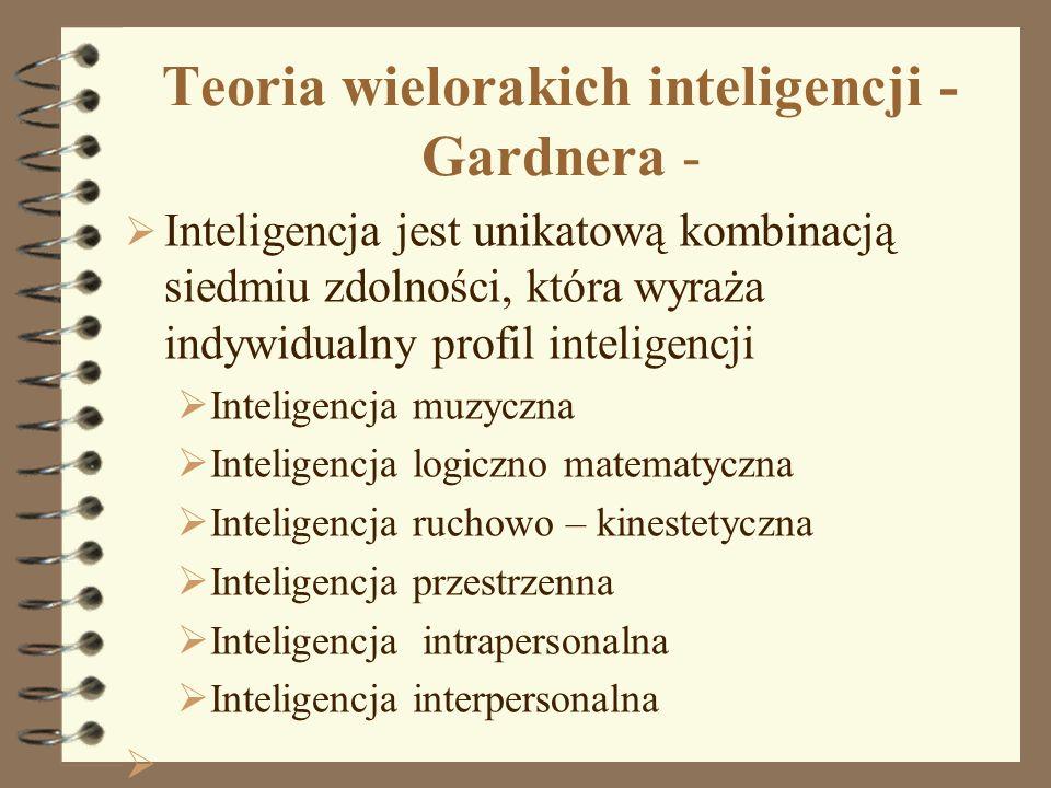 Teoria wielorakich inteligencji - Gardnera -