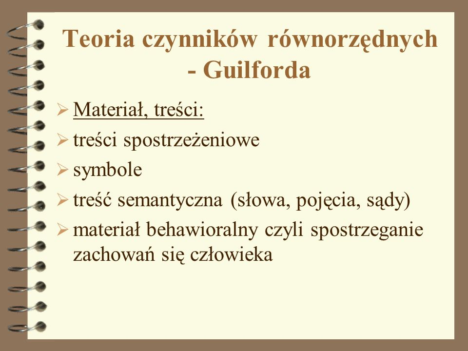 Teoria czynników równorzędnych - Guilforda