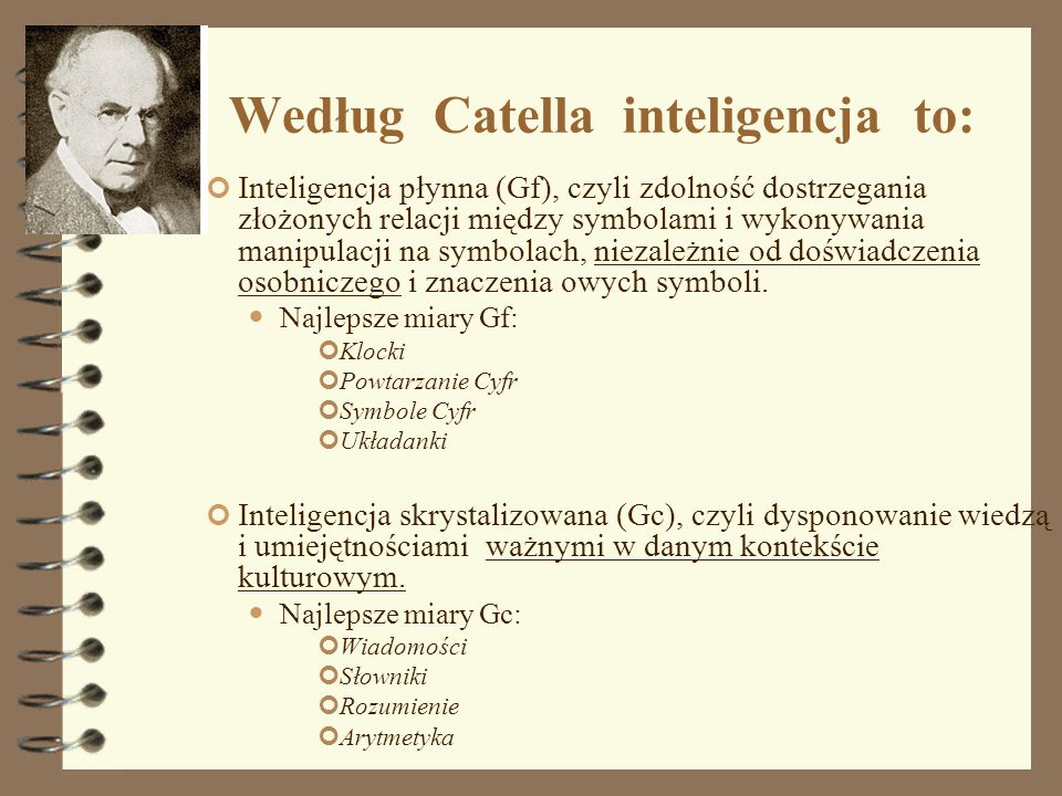 Według Catella inteligencja to: