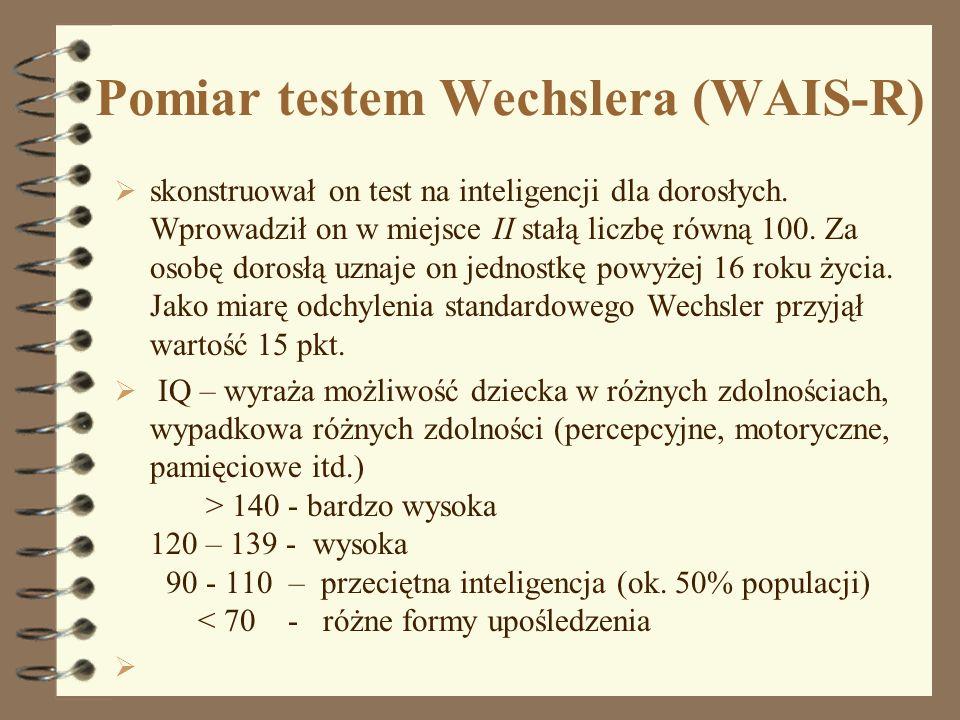 Pomiar testem Wechslera (WAIS-R)