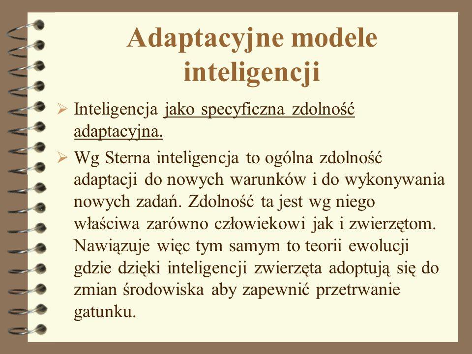 Adaptacyjne modele inteligencji