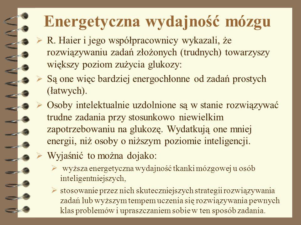 Energetyczna wydajność mózgu
