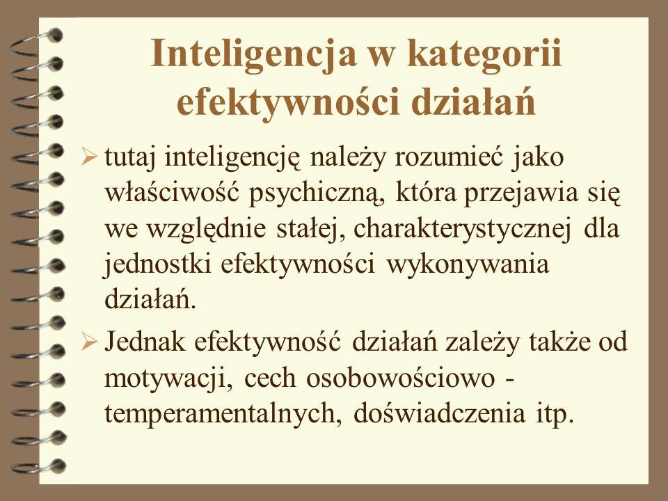 Inteligencja w kategorii efektywności działań