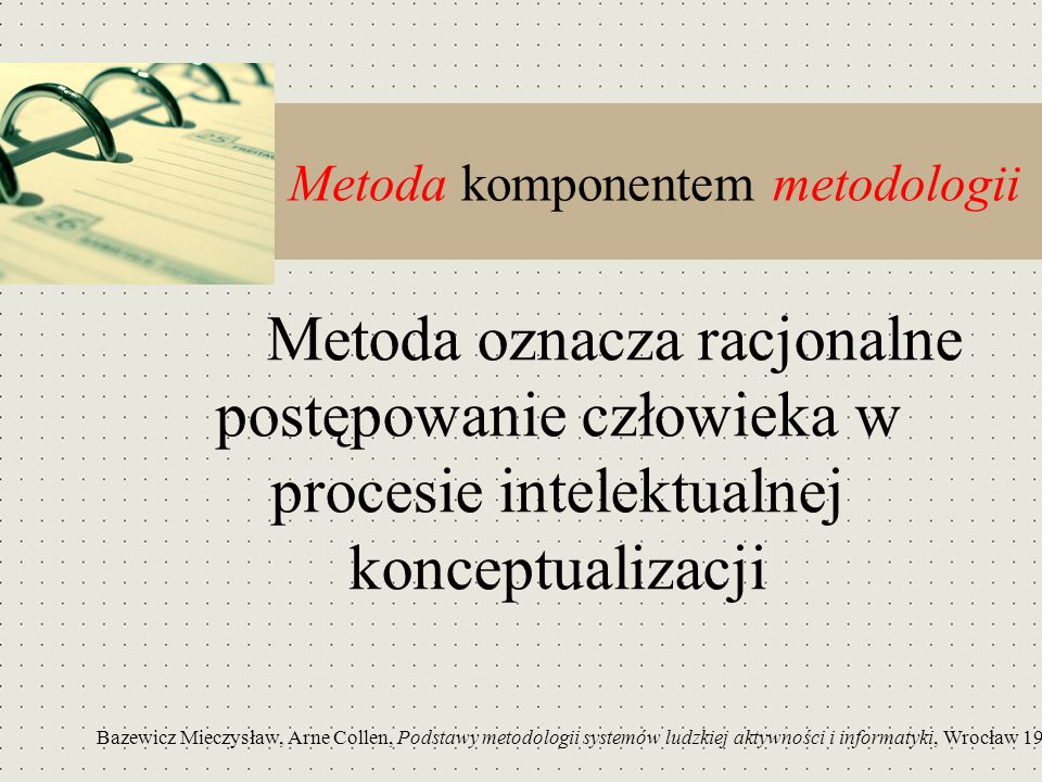 Metoda komponentem metodologii