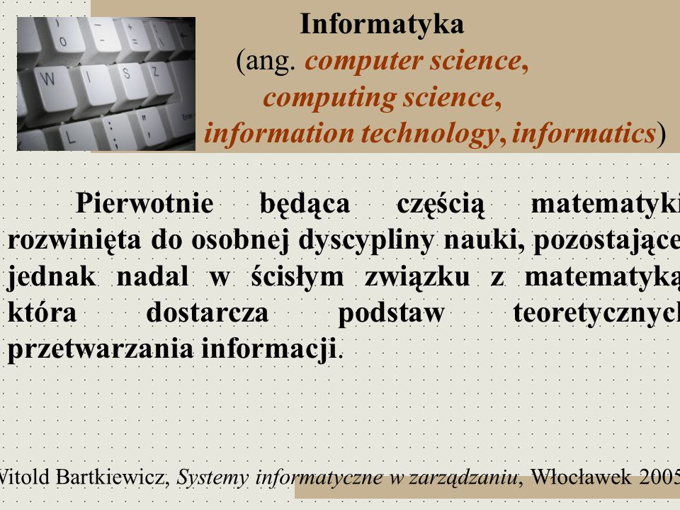 information technology, informatics)