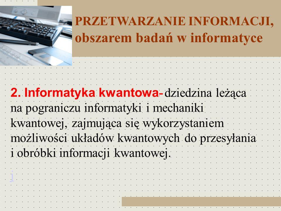 obszarem badań w informatyce