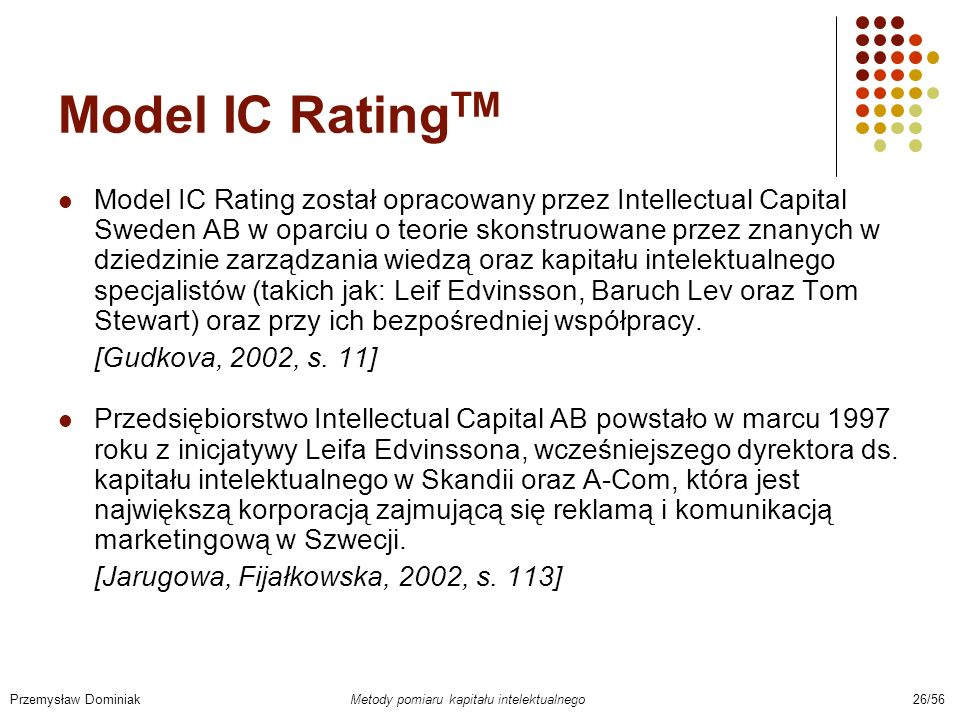 Model IC RatingTM