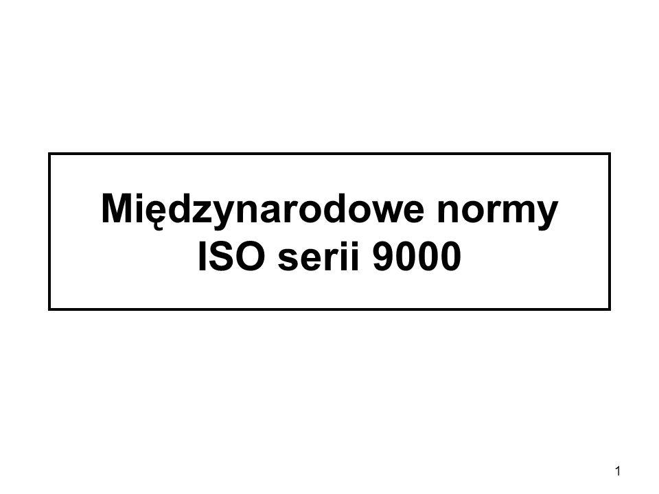 Międzynarodowe normy ISO serii 9000