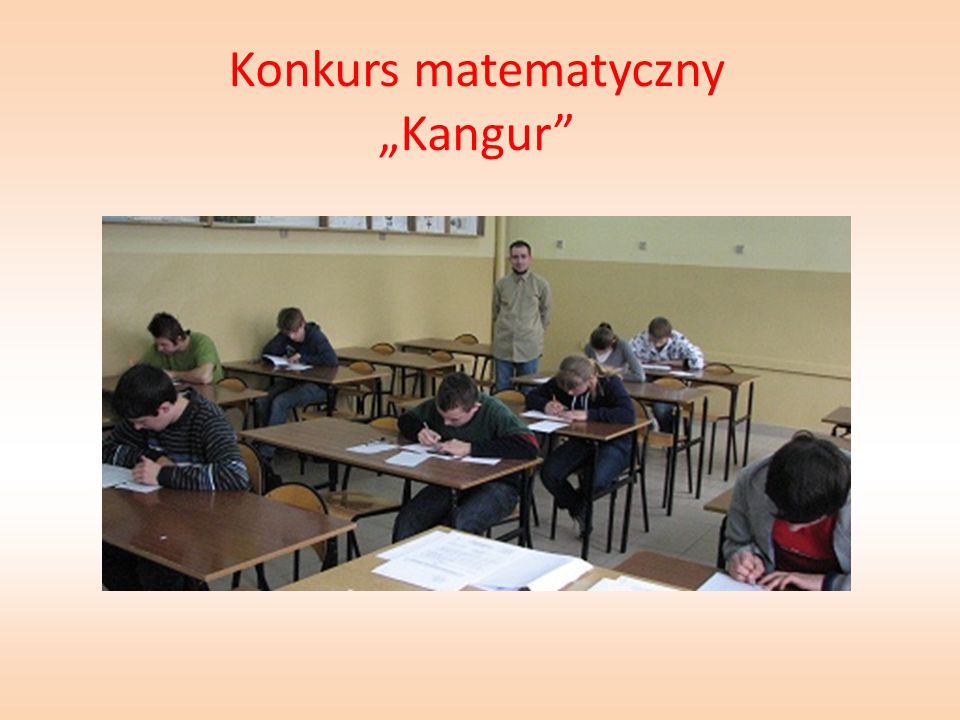"Konkurs matematyczny ""Kangur"