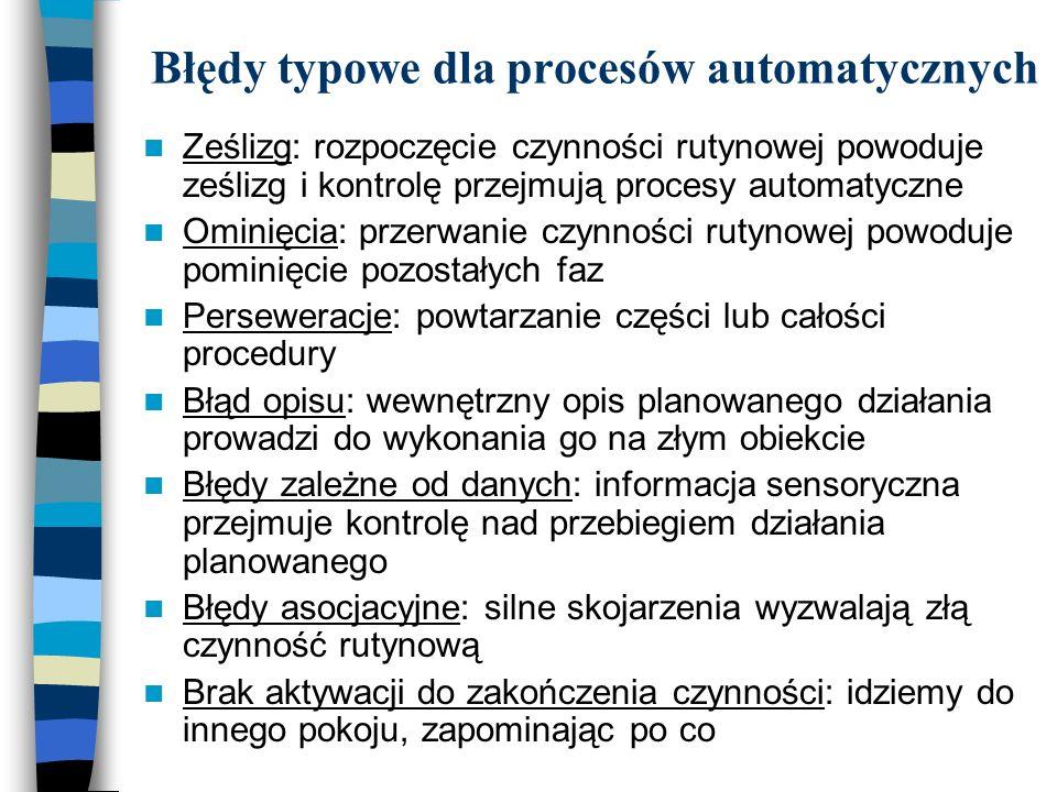 Błędy typowe dla procesów automatycznych