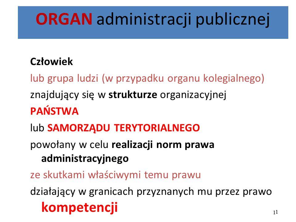 ORGAN administracji publicznej